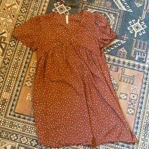 M.T.S Babydoll rust dress S